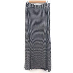 Dalia Maxi Skirt- Black/White Striped- Size small